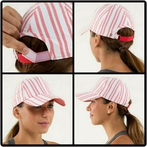 NWOT Lululemon Love Red Stripe Baseball Cap OS